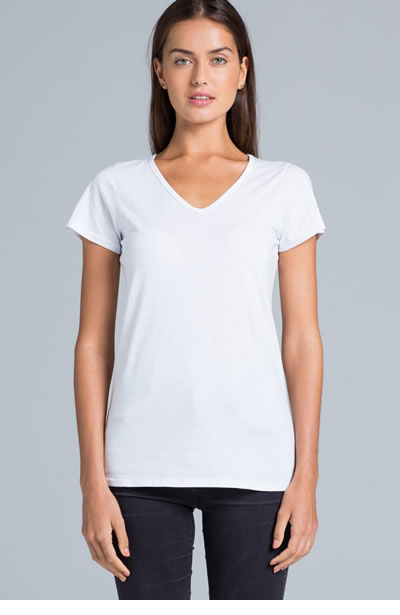 4010 Womens Bevel V-Neck