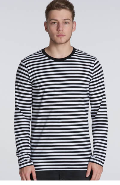 5031 Match Stripe L/Sleeve Tee